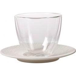 Manufacture Rock Blanc Tazza caffe latte Piatto 2 pezzi - Villeroy & Boch