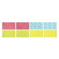 Set 4 fogli decorativi effetto geometrico