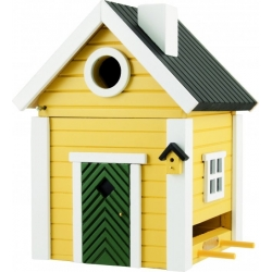 "Nido per uccelli con mangiatoia ""Yellow Cottage Plus"" - Wildlife Garden"
