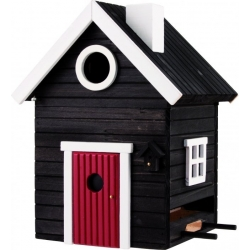 "Nido per uccelli con mangiatoia ""Black Cottage Plus"" - Wildlife Garden"