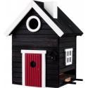 """Nido per uccelli con mangiatoia """"Black Cottage Plus"""" - Wildlife Garden"""
