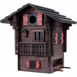 "Nido per ucelli con mangiatoia ""Mountain Cottage"" - Wildlife Garden"
