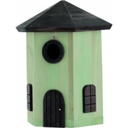 """Nido per uccelli con mangiatoia fienile """"Tower Nest Box Green"""""""