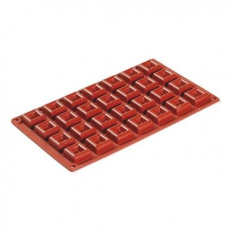 Stampo in silicone 28 porzioni Quadrato - Pavoni