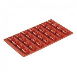Stampo in silicone 28 porzioni Savarin Triangolo - Pavoni
