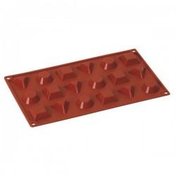 Stampo in silicone 18 porzioni Tondo, Quadro e Triangolo - Pavoni