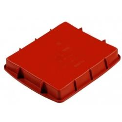 Tortiera rettangolare silicone Cm. 28x24x4 h. - Pavoni