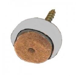 Piedino molleggiato antirumore Mm. 36, Grigio con feltro antigraffio - Genius