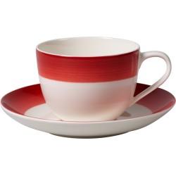 Colourful Life DeepRed Tazza caffe con piatto 2 pezzi - Villeroy & Boch