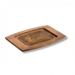 Vassoio rettangolare in legno Cm.29,4x19,7x2 - Lodge