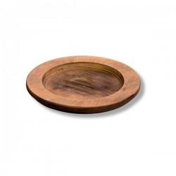 Vassoio tondo in legno Cm.20,2 Øx1,65 - Lodge
