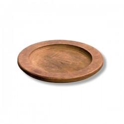 Vassoio tondo in legno Cm.24,1Øx1,75 - Lodge