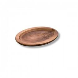 Vassoio tondo in legno Cm.29,95x22,7x1,75 - Lodge
