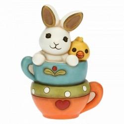 Coniglio e pulcino su tazze - Thun