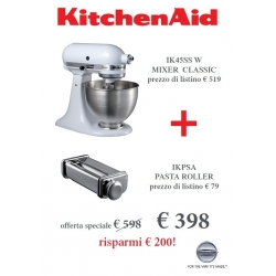 Offerta Robot KitchenAid Classic, Bianco + Sfogliatrice - KitchenAid