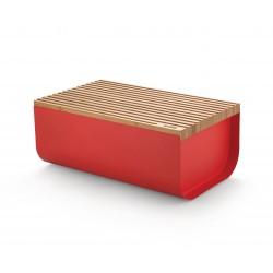 Mattina Bread Box, Cassetta Per Pane Rossa - Alessi