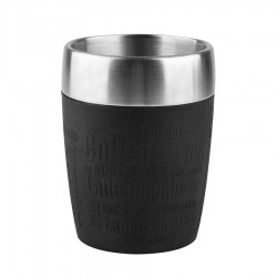 Travel Cup, Bicchiere termico 0,2lt. Acc/nero - Emsa
