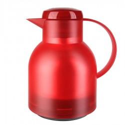 Samba, Caraffa termica quicktip 1 lt. rosso translucido - Emsa
