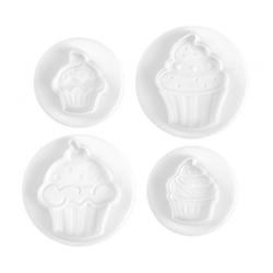 Stampo espulsione cupcakes 4 pz. 55/33 mm.