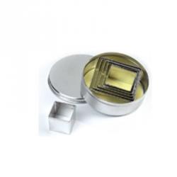 Tagliapasta quadrati lisci in metallo 6 pezzi - Pavoni