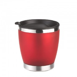 City Cup, Bicchiere termico 0,2lt. Acc/Rosso Tr - Emsa