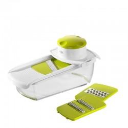Smart Kitchen, Grattuggia Multifunzione 22,5x11x8 cm. bianco/verde - Emsa