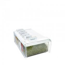 Spice Box, Sched. Portaspezie 6 spezie Trasp/bia - Emsa