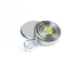Tagliapasta cerchi lisci in metallo 9 pezzi - Pavoni