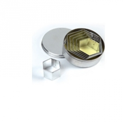 Tagliapasta esagoni lisci in metallo 6 pezzi - Pavoni