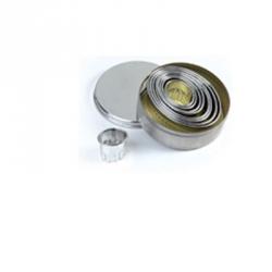 Tagliapasta ovali festonati in metallo 9 pezzi - Pavoni