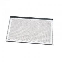 Teglia piana in alluminio microforato Cm. 60X40 - Pavoni