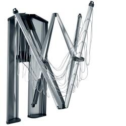 WallFix 24 metri - include Protection Storage Box, Metallic Grey - Brabantia