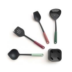 Set 4 utensili + Base, Tasty+ Mixed Colours - Brabantia
