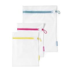 Sacche per lavare i delicati - 2 x Small - 33x25 cm 1 x Large - 45x33 cm , Bianco - Brabantia