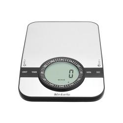 Bilancia da cucina digitale 1gr/5kg - Rettangolare con timer cucina, Inox Satinato - Brabantia