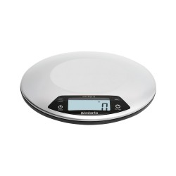 Bilancia da cucina digitale 1gr/5kg - Rotonda con timer cucina, Inox Satinato - Brabantia