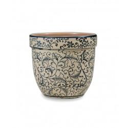Pot pot, Vaso bianco d. 11,5 x h. 10 cm. - Zafferano