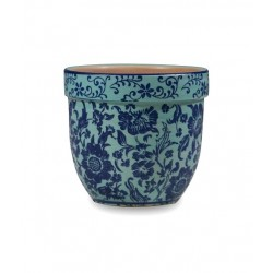 Pot pot, Vaso turchese d. 11,5 x h. 10 cm. - Zafferano