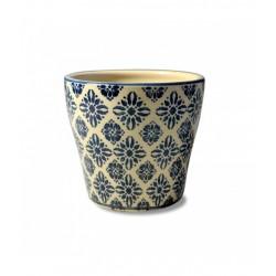 Pot pot, Vaso ambra d. 11,5 x h. 10 cm. - Zafferano