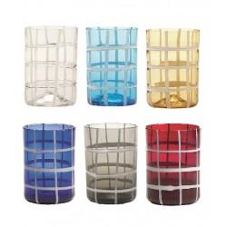 Twiddle, Bicchiere confezione assortita 6 pezzi - Zafferano