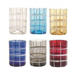 Twiddle, Bicchiere trasparente - Zafferano