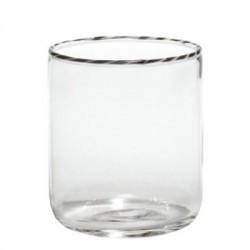 Intrecci, Bicchiere nero/bianco - Zafferano