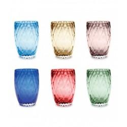 Losanghe, Bicchiere confezione assortita 6 pezzi - Zafferano