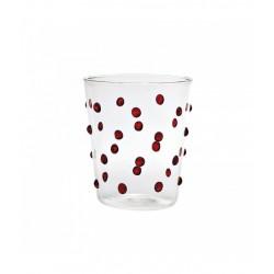 Party, Bicchiere pois rosso - Zafferano