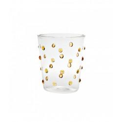 Party, Bicchiere pois giallo oro - Zafferano