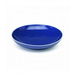 Rhapsody in blue, Piatto fondo blu filo bianco d. 215 - Zafferano