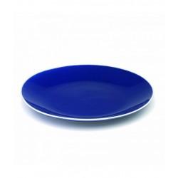 Rhapsody in blue, Piatto piano blu filo bianco d. 270 - Zafferano