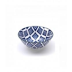 Rhapsody in blue, Small Bowl rombi d. 125 - Zafferano