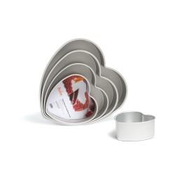 Stampo cuore in alluminio Cm. 20x7,5 H. - Decora
