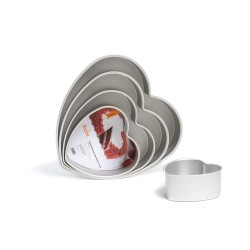 Stampo cuore in alluminio Cm. 25x7,5 H. - Decora